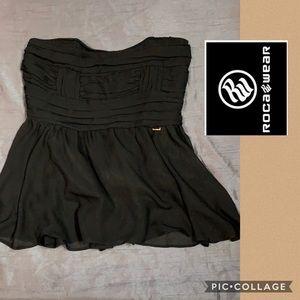 Rocawear black strapless top tie back size XL
